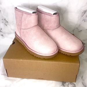 NEW UGG classic mini 2 pink crystal short boots